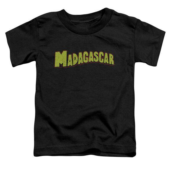 Madagascar Logo Short Sleeve Toddler Tee Black T-Shirt