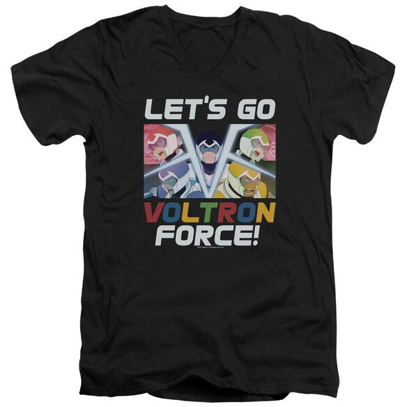 Voltron Lets Go Short Sleeve Adult V Neck T-Shirt