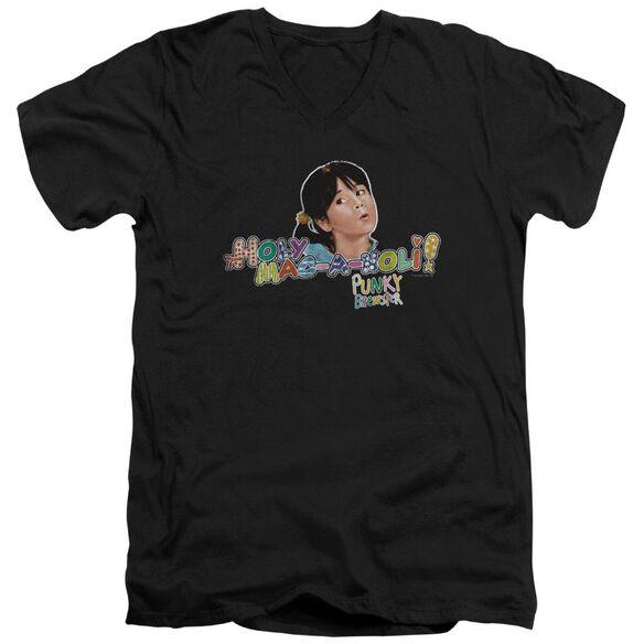 Punky Brewster Holy Mac A Noli Short Sleeve Adult V Neck T-Shirt