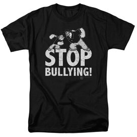 POPEYE STOP BULLYING - S/S ADULT 18/1 - BLACK T-Shirt