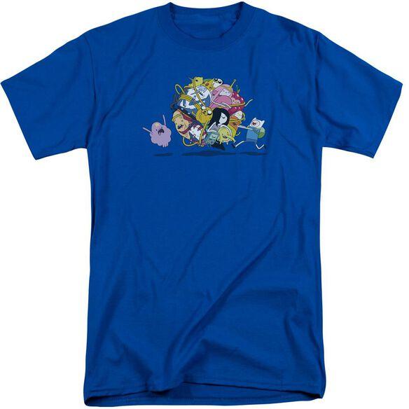 Adventure Time Glob Ball Short Sleeve Adult Tall Royal T-Shirt