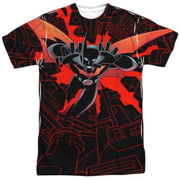 Batman Beyond Drop Down Short Sleeve Adult Poly Crew T-Shirt