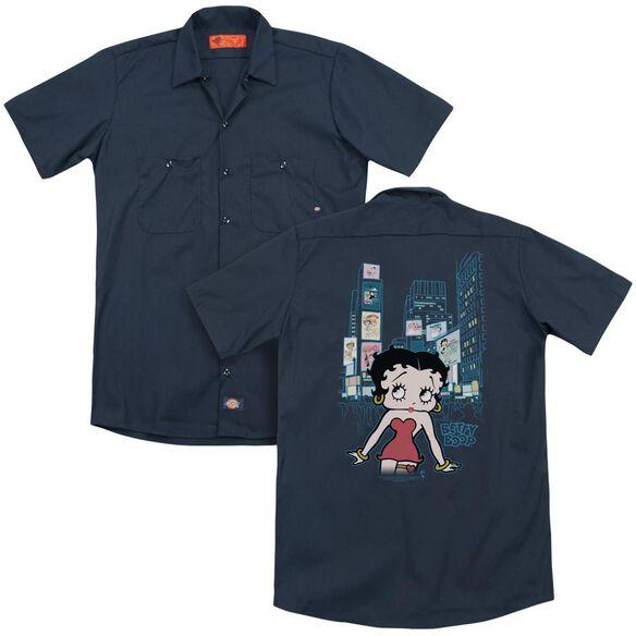 Betty Boop Square (Back Print) Adult Work Shirt