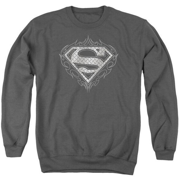 Superman Tribal Steel Logo Adult Crewneck Sweatshirt