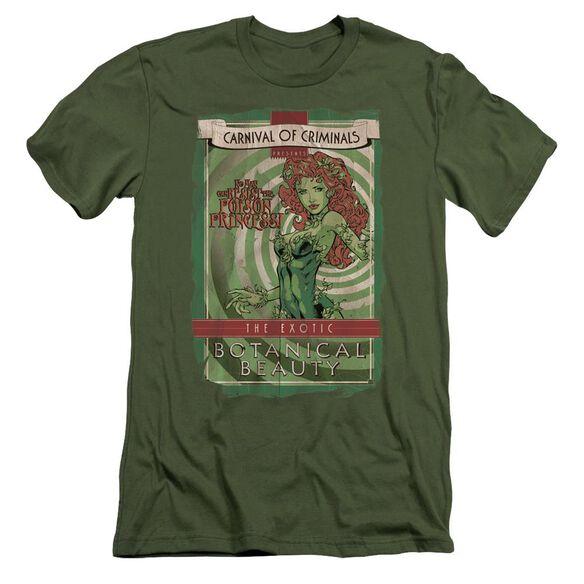 Batman Botanical Beauty Short Sleeve Adult Military T-Shirt
