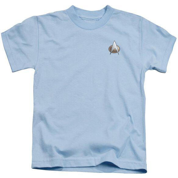 Star Trek Tng Science Emblem Short Sleeve Juvenile Carolina Blue Md T-Shirt