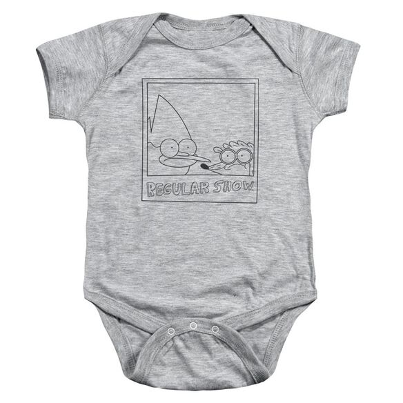 Regular Show Poloroid Infant Snapsuit Athletic Heather