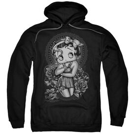 Betty Boop Fashion Roses Adult Pull Over Hoodie