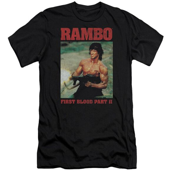 Rambo:First Blood Ii Dropping Shells Premuim Canvas Adult Slim Fit