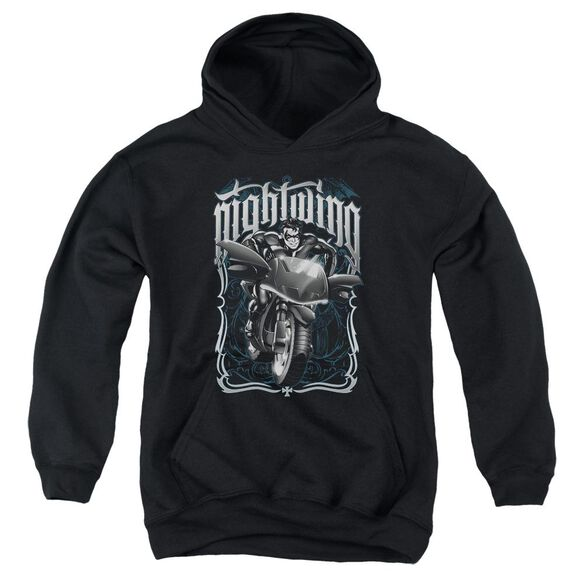 Batman Nightwing Biker Youth Pull Over Hoodie