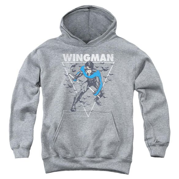 Batman Nightwingman Youth Pull Over Hoodie Athletic