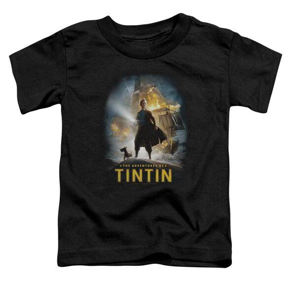 Tintin Poster Short Sleeve Toddler Tee Black Md T-Shirt