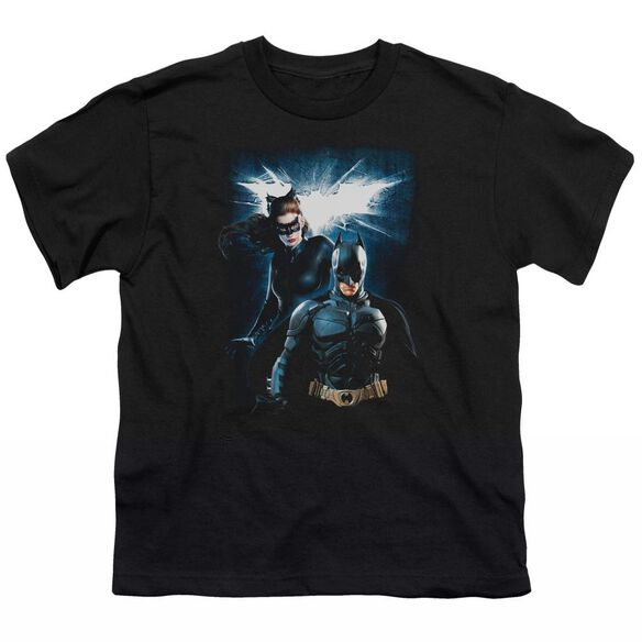Dark Knight Rises Bat & Cat Short Sleeve Youth T-Shirt