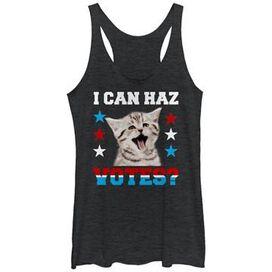 Political Can Haz Votes Tank Top Juniors T-Shirt