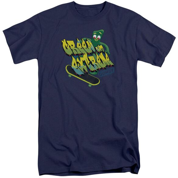 Gumby Green And Extreme Short Sleeve Adult Tall T-Shirt