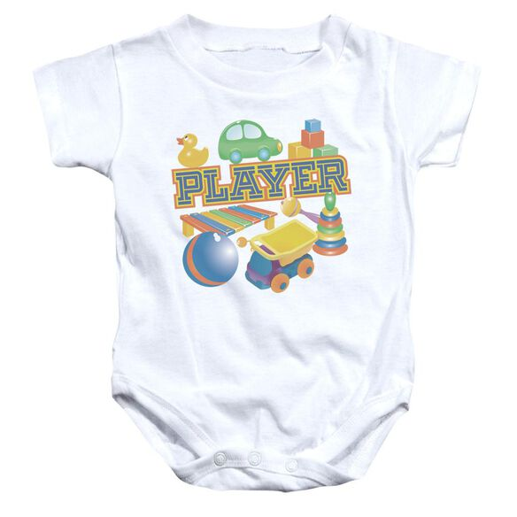 Player Infant Snapsuit White Md