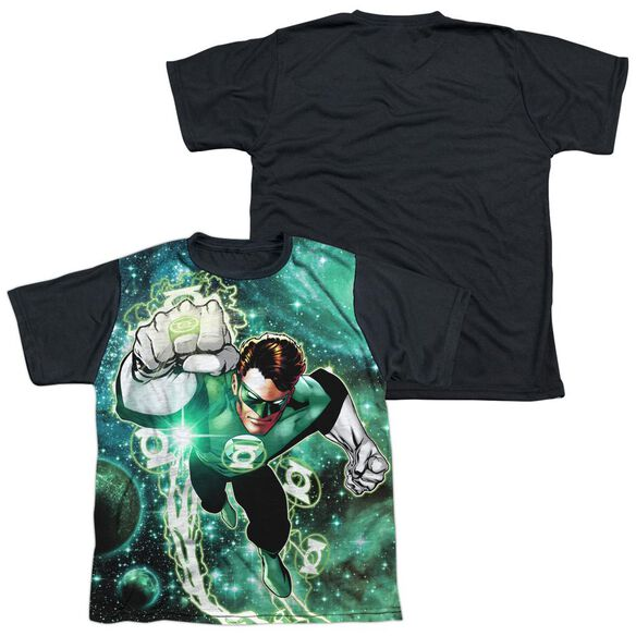 Green Lantern Galactic Hal Short Sleeve Youth Front Black Back T-Shirt