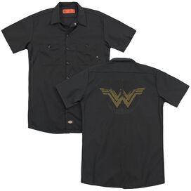 Wonder Woman Movie Distressed Logo (Back Print) Adult Work Shirt