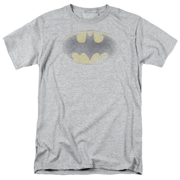 Batman Faded Logo Short Sleeve Adult Athletic Heather T-Shirt