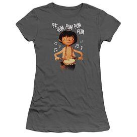Little Drummer Boy Drum Beat Short Sleeve Junior Sheer T-Shirt