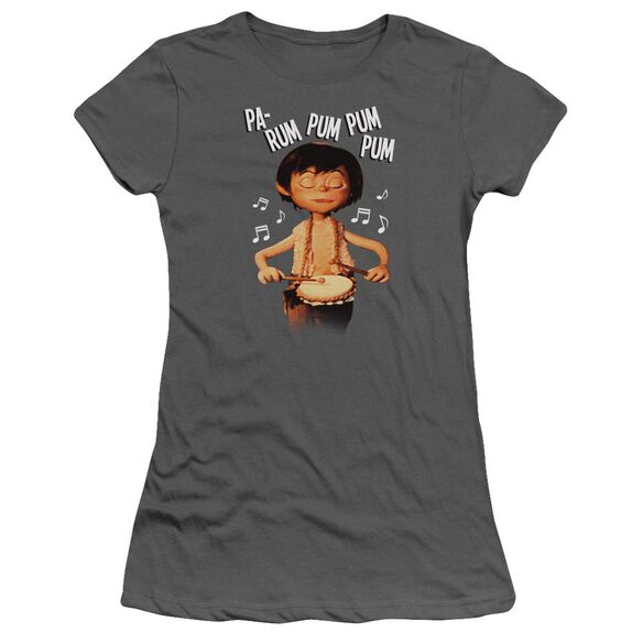 Little Drummer Boy Drum Beat Short Sleeve Junior Sheer T-Shirt