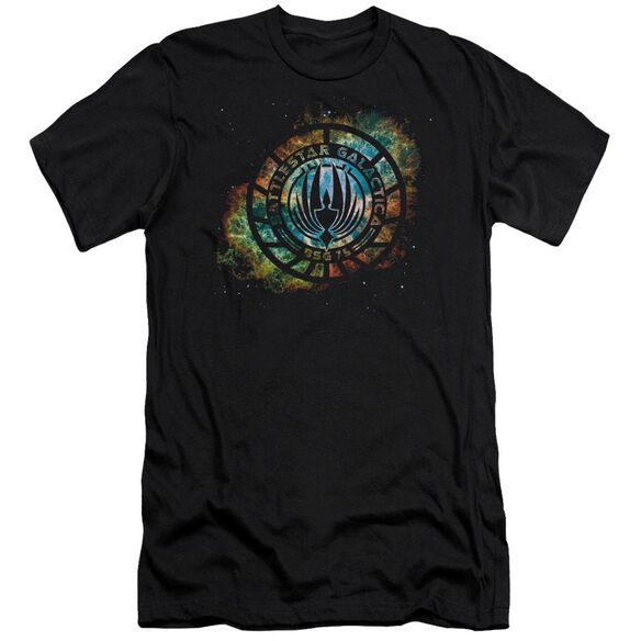 Battlestar Galactica (New) Emblem Knock Out Short Sleeve Adult T-Shirt