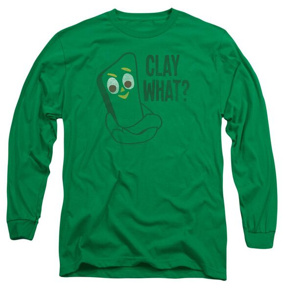 Gumby Clay What Long Sleeve Adult Kelly T-Shirt