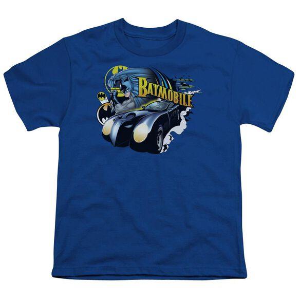 Batman Batmobile Short Sleeve Youth Royal T-Shirt
