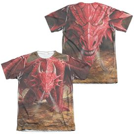 Anne Stokes Dragons Lair (Front Back Print) Adult Poly Cotton Short Sleeve Tee T-Shirt