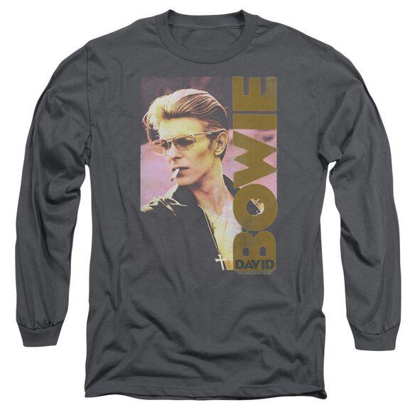 David Bowie Smokin Long Sleeve Adult T-Shirt