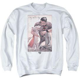 Superman Mans Best Friend Adult Crewneck Sweatshirt