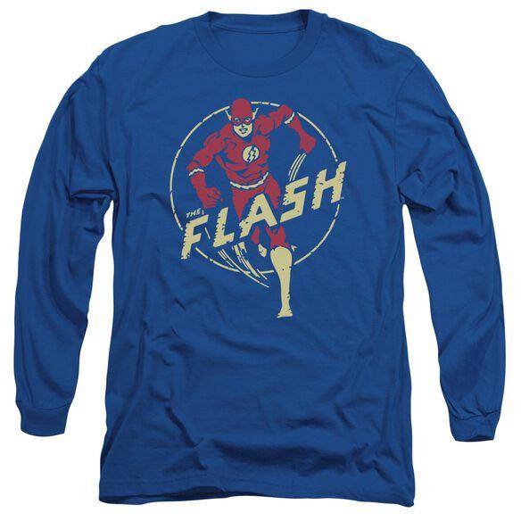 Dc Flash Flash Comics Long Sleeve Adult Royal T-Shirt