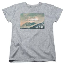 Alone Consequences Short Sleeve Womens Tee Athletic T-Shirt
