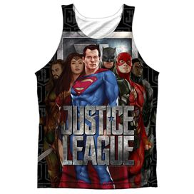 Justice League Movie The League Adult Poly Tank Top