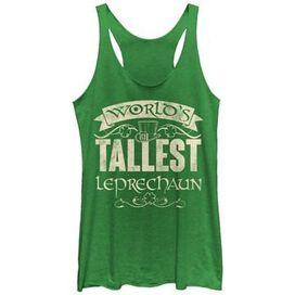 Irish Tallest Leprechaun Tank Top Juniors T-Shirt