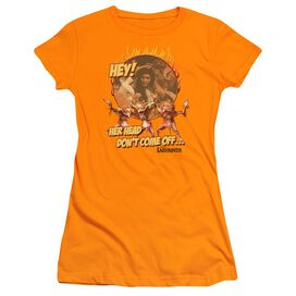 Labyrinth Head Don't Come Off Short Sleeve Junior Sheer T-Shirt