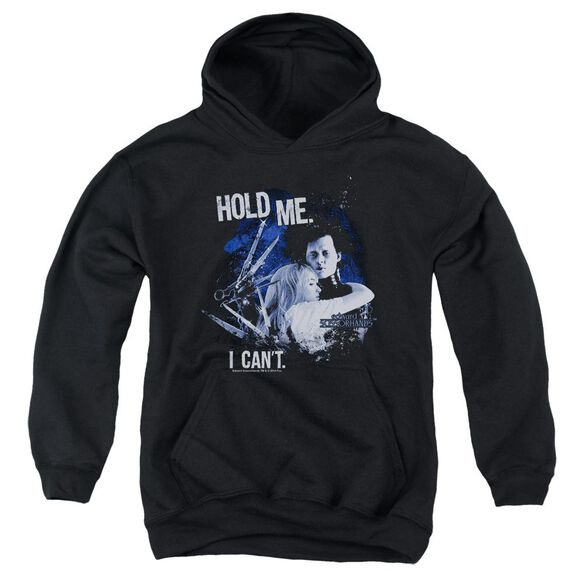 Edward Scissorhands Hold Me Youth Pull Over Hoodie