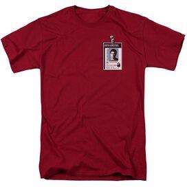 Dexter Badge Short Sleeve Adult Cardinal T-Shirt
