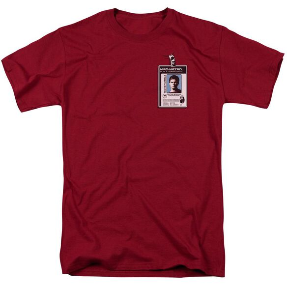 Dexter Badge Short Sleeve Adult Cardinal T-Shirt