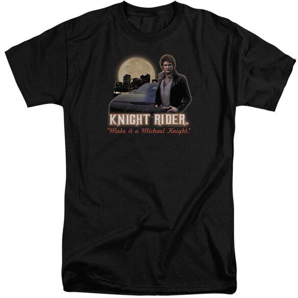 Knight Rider Full Moon Short Sleeve Adult Tall T-Shirt