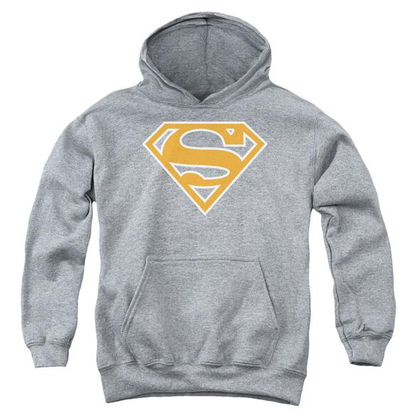 Superman Burnt Orange&White Shield Youth Pull Over Hoodie