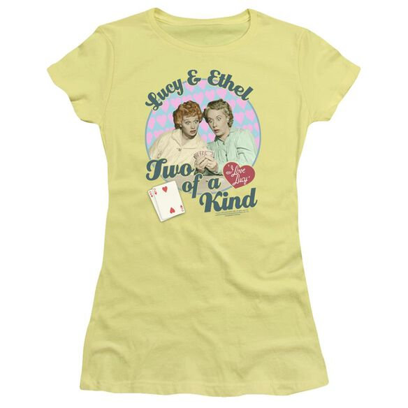 I Love Lucy Two Of A Kind Short Sleeve Junior Sheer T-Shirt