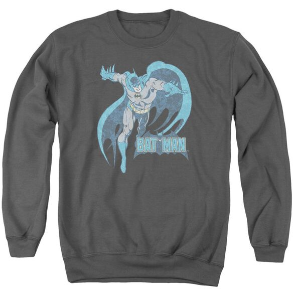 Dco Desaturated Batman Adult Crewneck Sweatshirt