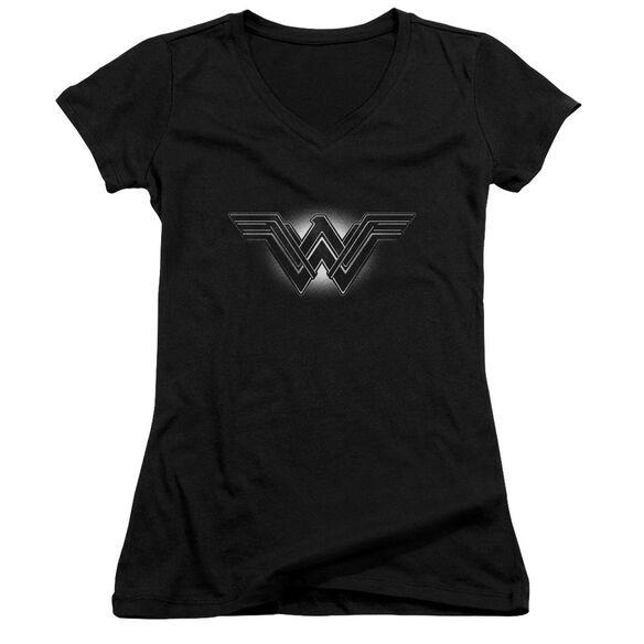 Batman V Superman Glow Emblem Junior V Neck T-Shirt
