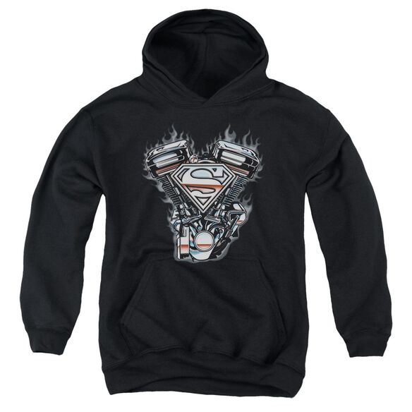 Superman V Twin Logo Youth Pull Over Hoodie