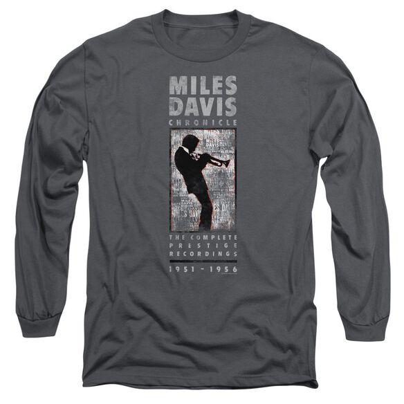 Miles Davis Miles Silhouette Long Sleeve Adult T-Shirt