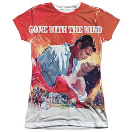 Gone With The Wind Poster Short Sleeve Junior Poly Crew T-Shirt