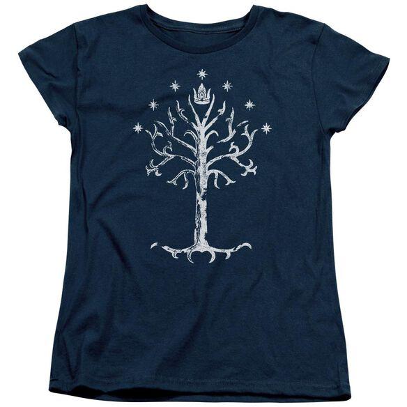 Lor Tree Of Gondor Short Sleeve Womens Tee T-Shirt
