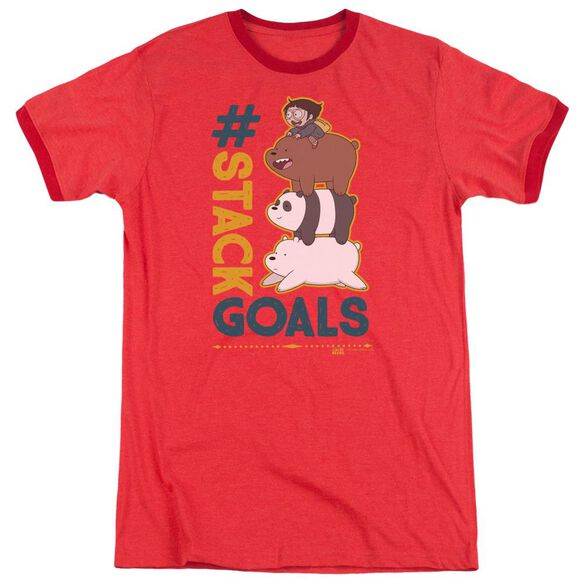 We Bare Bears Stack Goals Adult Ringer
