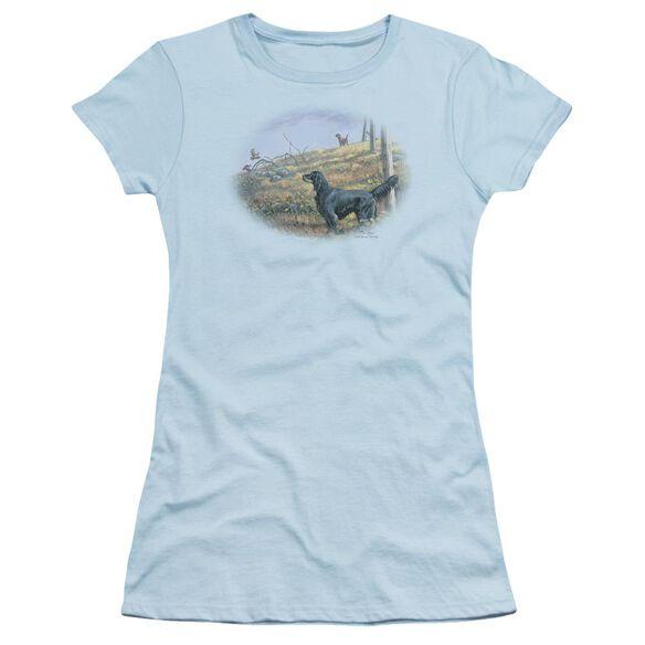 Wildlife Looking Back Short Sleeve Junior Sheer Light T-Shirt